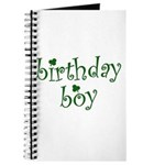 St. Patricks Day Birthday Boy Journal