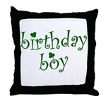 St. Patricks Day Birthday Boy Throw Pillow