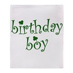 St. Patricks Day Birthday Boy Throw Blanket