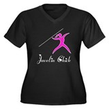 Javelin Chick Women's Plus Size V-Neck Dark T-Shir
