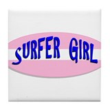 Surfer Girl Tile Coaster