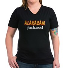 Alakazam Jackass Women's V-Neck Dark T-Shirt