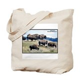 Yellowstone Buffalo Herd Tote Bag
