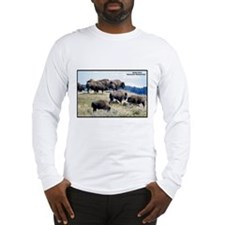 Yellowstone Buffalo Herd Long Sleeve T-Shirt