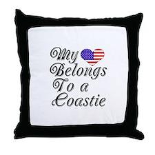 My Heart Belongs To A Coastie Throw Pillow