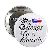 My Heart Belongs To A Coastie Button