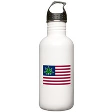 US Pot Flag Sports Water Bottle