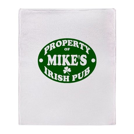 Mike's Irish Pub Throw Blanket