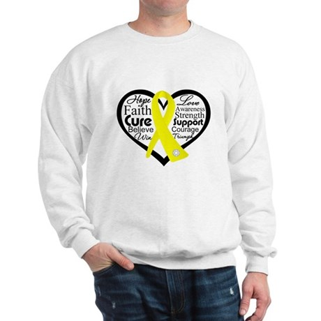 Sarcoma Cancer Heart Sweatshirt