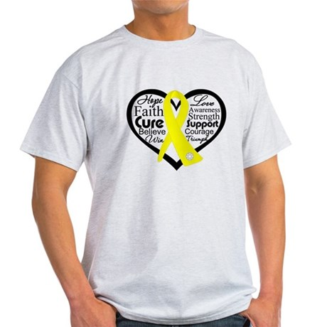 Sarcoma Cancer Heart Light T-Shirt