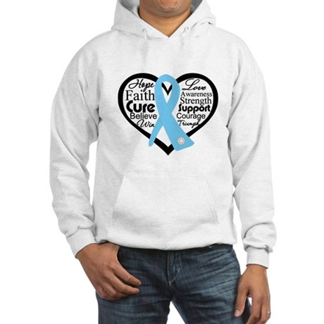 Prostate Cancer Heart Hooded Sweatshirt