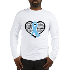 Prostate Cancer Heart Long Sleeve T-Shirt