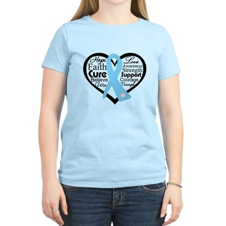 Prostate Cancer Heart Women's Light T-Shirt