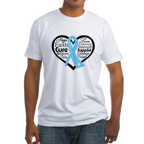 Prostate Cancer Heart Fitted T-Shirt