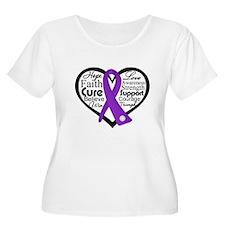 Pancreatic Cancer Heart T-Shirt