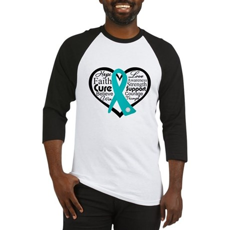 Heart Ovarian Cancer Baseball Jersey