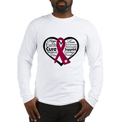 Multiple Myeloma Heart Long Sleeve T-Shirt