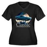 Ford mustang Women's Plus Size V-Neck Dark T-Shirt