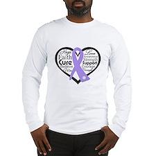 General Cancer Heart Long Sleeve T-Shirt