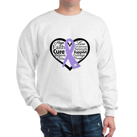 General Cancer Heart Sweatshirt