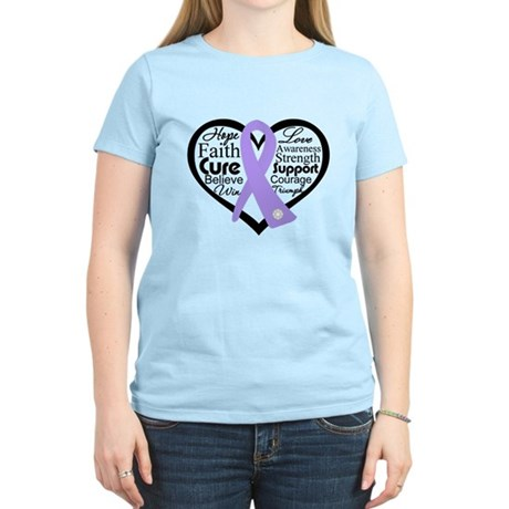 General Cancer Heart Women's Light T-Shirt