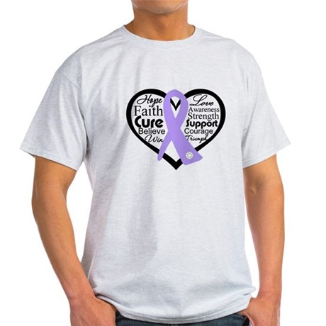 General Cancer Heart Light T-Shirt