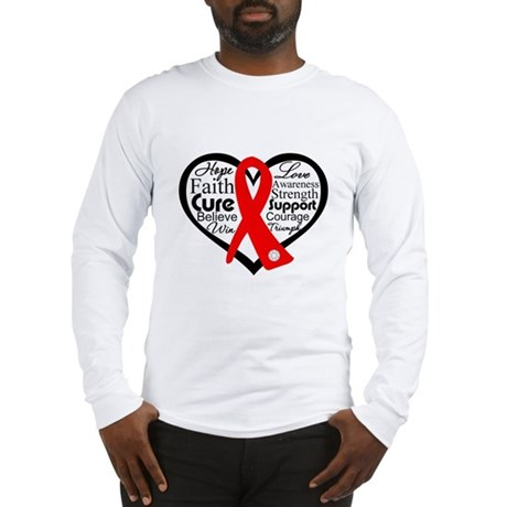 Blood Cancer Heart Long Sleeve T-Shirt