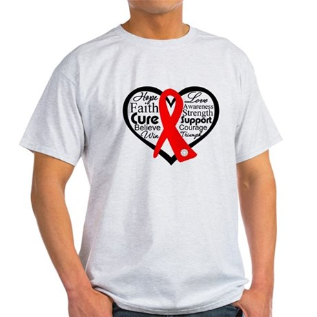Blood Cancer Heart Light T-Shirt