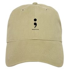 Semi-Colon Baseball Cap