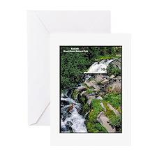 Mount Rainier Cascade Greeting Cards (Pk of 10