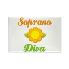 Soprano Diva Cute Rectangle Magnet