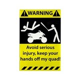 Quad Warning Rectangle Magnet (100 pack)