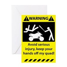 Quad Warning Greeting Card