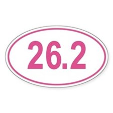 Pink 26.2 Marathon Oval Decal