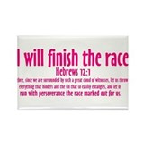 I Will Finish the Race: Hebrews 12:1 Rectangle Mag