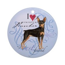 Miniature Pinscher Ornament (Round)