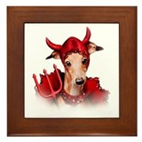 Italian Greyhound Devil Dog Framed Tile