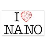 I heart Nano Sticker (Rectangle)