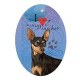 Miniature Pinscher Oval Ornament
