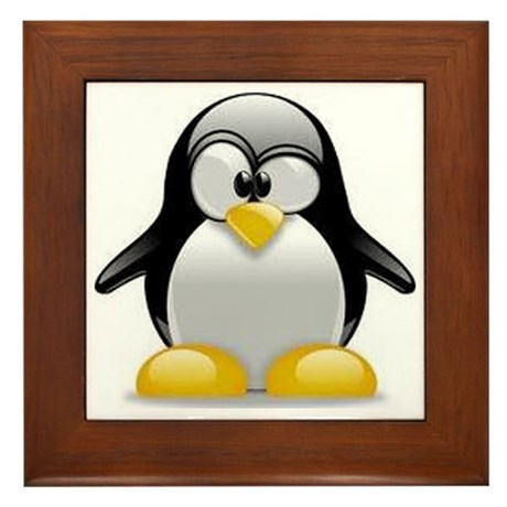Penquin Framed Tile
