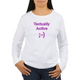 Textually Active Pink T-Shirt
