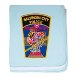 Baltimore City Police baby blanket