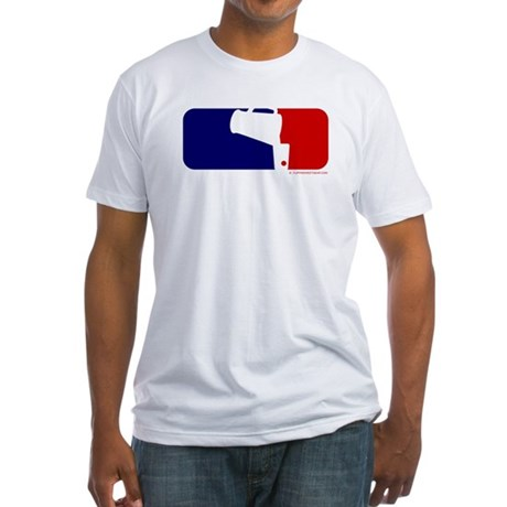 Beer Pong League Logo Fitted T-Shirt