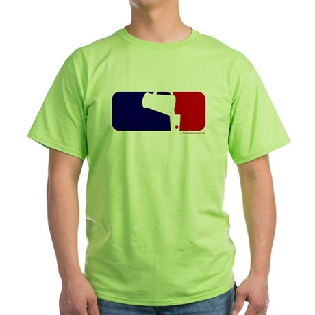 Beer Pong League Logo Green T-Shirt