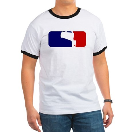 Beer Pong League Logo Ringer T