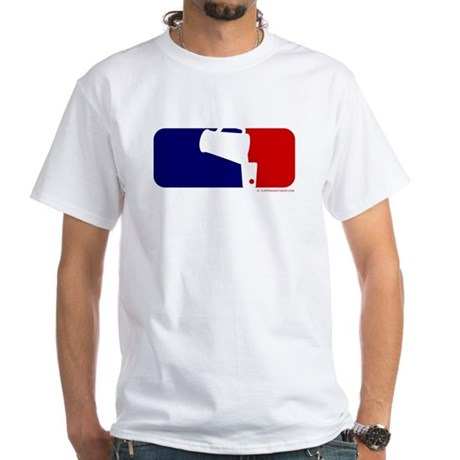 Beer Pong League Logo White T-Shirt