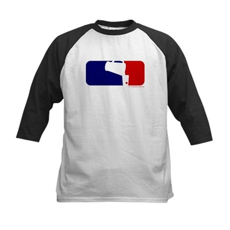 Beer Pong League Logo Kids Baseball Jersey