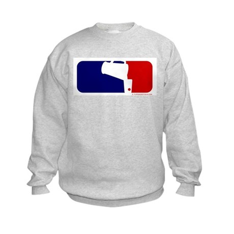 Beer Pong League Logo Kids Sweatshirt