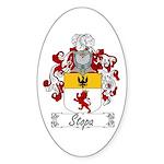 Stopa Family Crest Oval Sticker