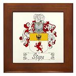 Stopa Family Crest Framed Tile